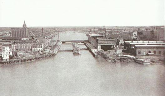 BORDEAUX - 1940 - Les écluses et l'entrée du bassin à flot.