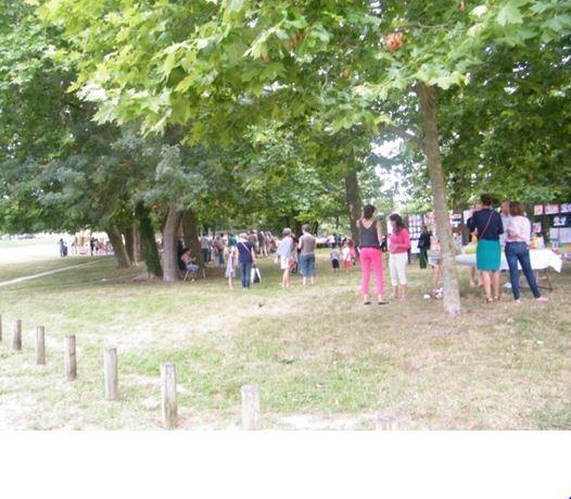 FEU DE LA SAINT JEAN - Parc de Cambon - SOUS LES VIEUX PLATANES.