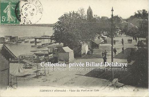 LORMONT  (Gironde)  - PLACE DU PORT ET LA CALE.