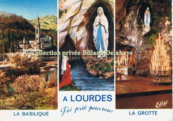 LOURDES du 11.02 au 16.07.1858 apparitions de l'Immaculée Conception.