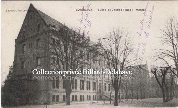 Lycée de Jeunes Filles, l'internat (l'Assomption ?) le 11.10.1917.