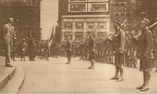 Guerre 1914/1918 - SOLDATS ECOSSAIS à NEW-YORK