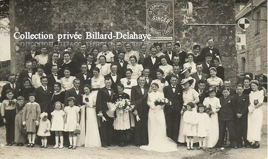 MARIAGE DES JONCOUR JEANNE ET HERVE EN BRETAGNE - 1950