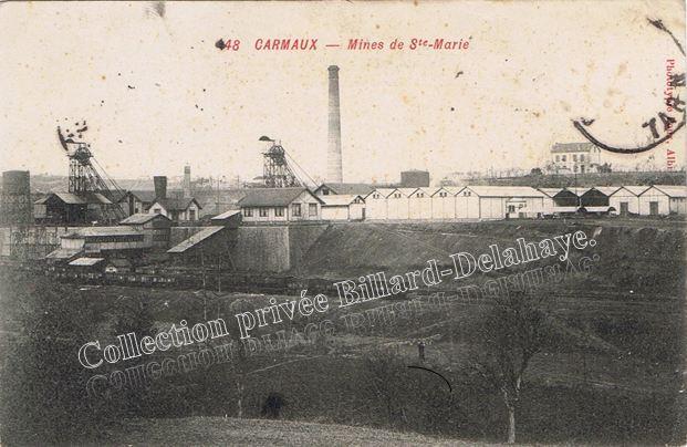 Mines de Sainte Marie creusées de 1893 à 1895 à Blaye-les-Mines (81).