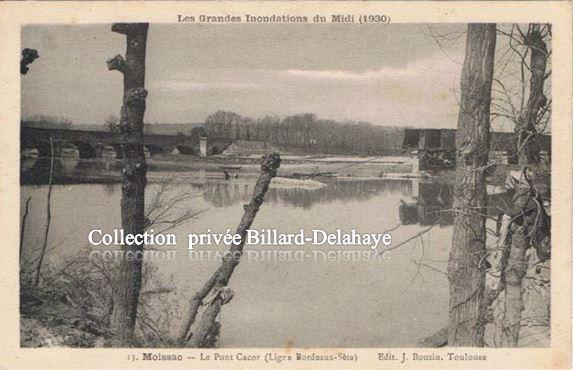 MOISSAC (82) Grandes Innondations du Midi ; nuit du 3 au 4 mars 1930.