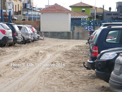 LACANAU-OCEAN (Gironde).Traces de la tempête du 11.01.2016.