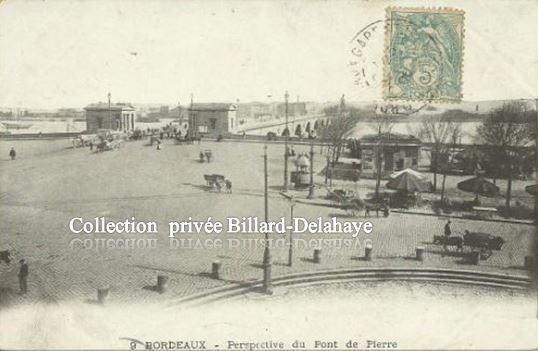 9 - BORDEAUX - LES PAVILLONS DE L'OCTROI A L'ENTREE DU PONT.
