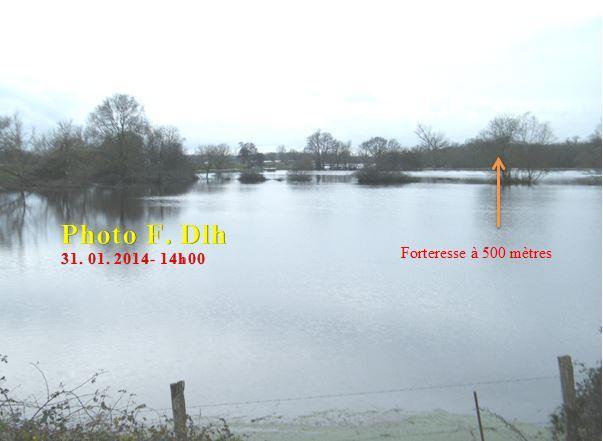 Blanquefort le 31.01.2014 (en face de la réserve naturelle de Bruges).