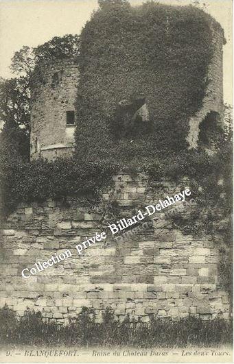 9 - BLANQUEFORT - Ruine du Château DURAS - LES DEUX TOURS.