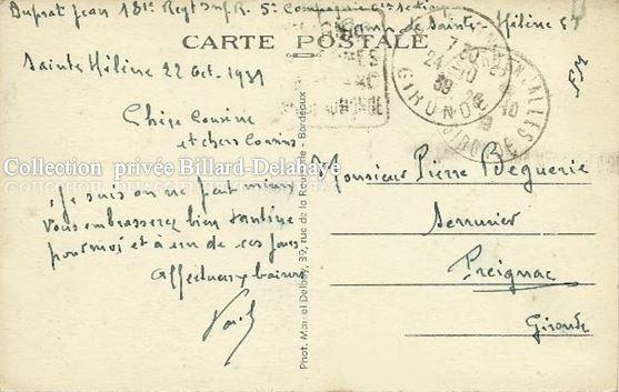 39-45 SAINTE HELENE en GIRONDE (verso). 29 OCTOBRE 1939.