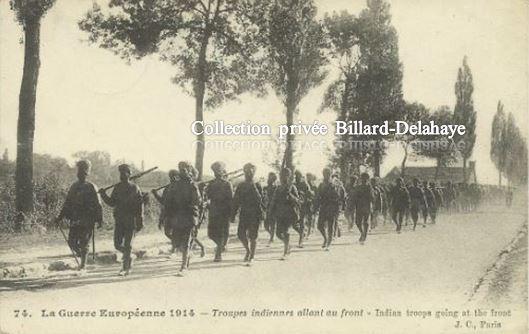 LES DIVISIONS LAHORE ET MEERUT DE L'ARMEE DES INDES EN 1914.