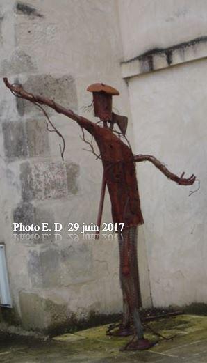 UNE PARTIE DU GROUPE GENEALOGIE DU G.A.H. BLE VISITE BAZAS LE 29 juin 2017