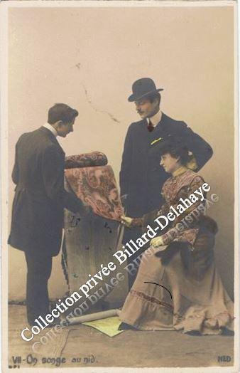 """VENDEUR DE TAPISSERIE -CPA achetée au TAILLAN (33)-éditeur """"NED"""" 1904."""