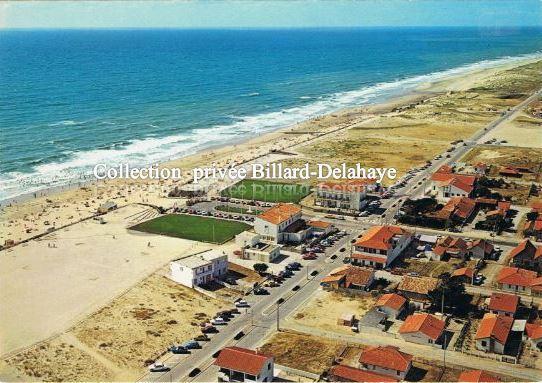 MONTALIVET-les-BAINS (Gironde). Vue aérienne de la plage.