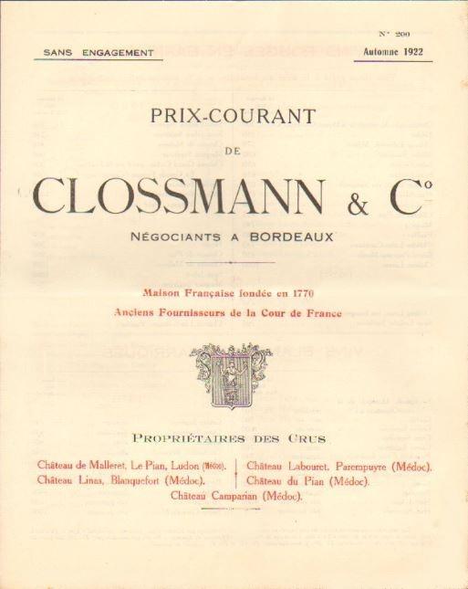 Prix clossmann